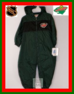 Minnesota Wild Hockey Baby Infants 24M Wind Suit New