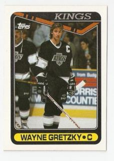 1990 91 Wayne Gretzky Topps Hockey Trading Card 120
