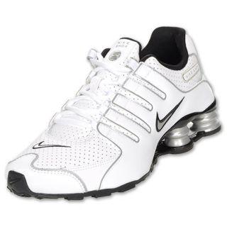 Boys Gradeschool Nike Shox NZ White/Black