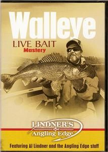 Walleye Live Bait Mastery Lindners Fishing DVD New