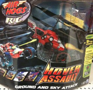 NEW 2012 Air Hogs Hover Assault Radio Control Helicopter Red Ground