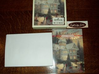 HALLMARK THOMAS KINKADE VICTORIAN CHRISTMAS HOLIDAY CARDS ENV 18 CT
