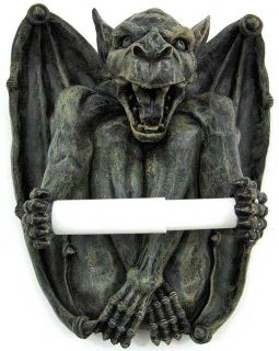 Awesome Gargoyle Toilet Paper Roll Holder Gothic Tissue