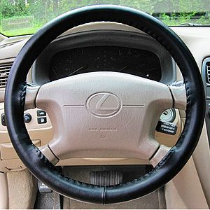Cgrey Wheelskins Leather Steering Wheel Cover Gray