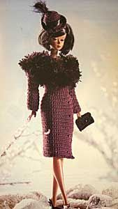 Twentieth Century FASHION DOLL COLLECTION Crochet Project Book New