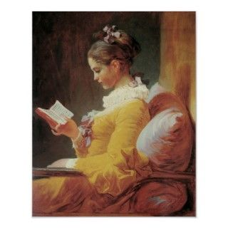 Young Girl Reading  painted by Jean Honoré Fragonard.