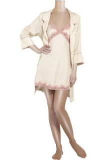Juicy Couture Polka dot silk robe