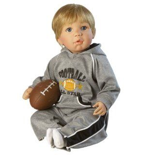 Future Football Star, 19 Baby Boy Doll in Soft Vinyl