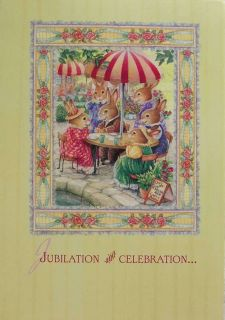 Holly Pond Hill Rabbit Congratulations Celebration Card