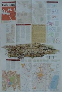 Bible Map Holy Land Jerusalem Nazareth Israel Palestine