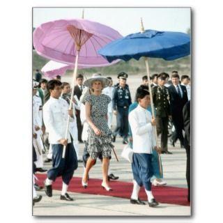 No.145 Princess Diana Thailand 1988 Postcards