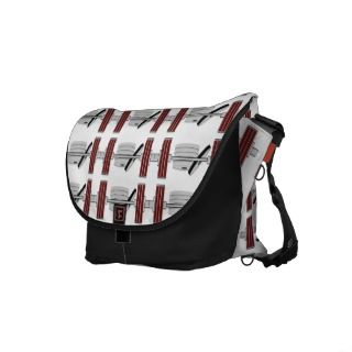 Bodybuilding Sport Weight Bar Stack Pattern Messenger Bags