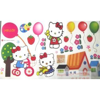Colorful DIY hello kitty wall decor Vinyl Wall Decal