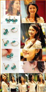 New Fashion Beautiful Butterfly Rhinestone Earrings