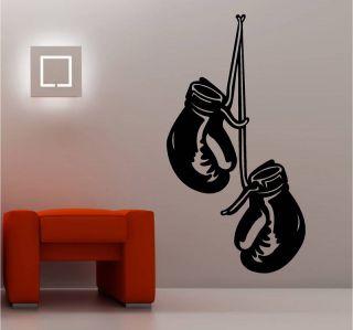 Boxing Gloves Wall Art Sticker Vinyl Bedroom Kids Gym