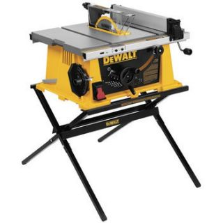 Dewalt 10 in Portable Table Saw w Folding Stand DW744X New