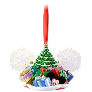 Disney Parks Mouse Mickey Ear Hat Christmas Tree Duffy Ornament