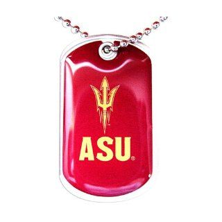 Asu Sun Devils Dog Tag Domed Necklace Charm Chain Ncaa