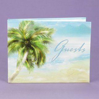 Beach Theme Guest Book Wedding Reception Summer Palm Tree
