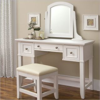 Home Styles Naples Vanity Table White Bedroom Vanitie
