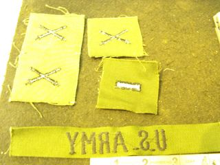 VN Army Sew on Rank Cannons and US Army Uniform Tag