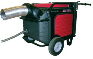 Honda EU6500IS Generator Exhaust System Directs Exhaust Air Outside