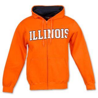 Illinois Fighting Illini NCAA Mens Hooded Full Zip Sweatshirt