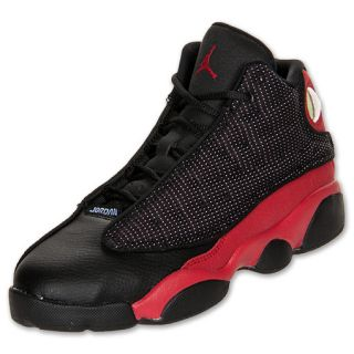Boys Preschool Air Jordan Retro 13 Black/Varsity