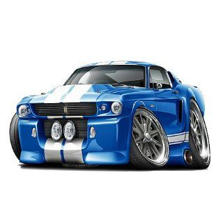 1967 Mustang Shelby GT 500 427 car 36 Wall Graphic Decal