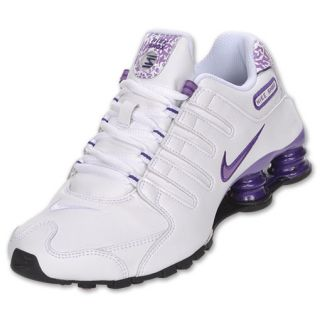 Womens Nike Shox NZ White/Violet Pop/Black/Grey