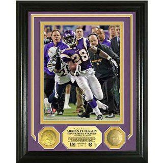 Adrian Peterson Nfl Single Game Rushing Record Photo Mint