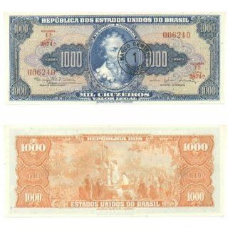 Brazil ND (1966 67) 1 Cruzeiro Novo on 1000 Cruzeiros