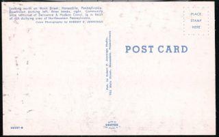 Honesdale PA Main Sree Parking Lo Vinage 1950s Cars Singer Bank