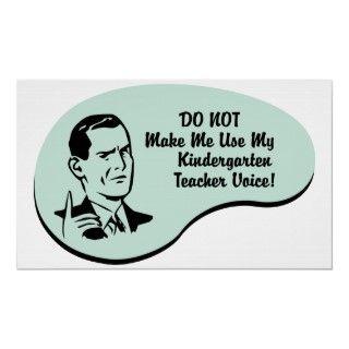 Kindergarten Teacher Voice. Get this fun design featuring your hobby