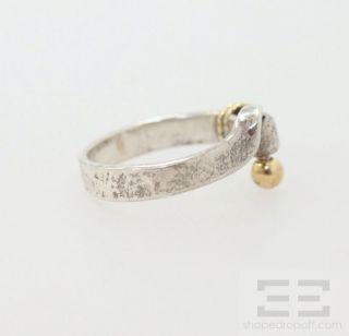 Co Sterling Silver 18K Gold Hook Eye Bracelet Ring Set Size 6