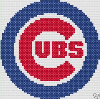 Baseball Cubs Logo 16x16 Latch Hook Kit