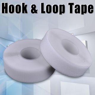 33ft Self Adhesive 2 Velcro Hook Loop Fastener Tape Strip Roll White