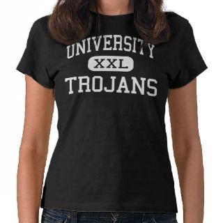 University   Trojans   High School   Waco Texas T shirts