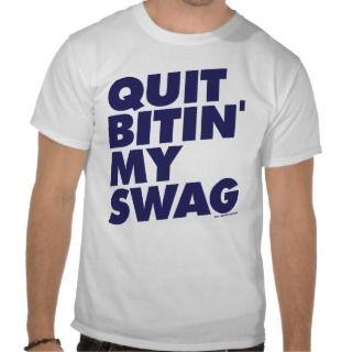 Quit Bitin My Swag   Orange Teal Miami T shirts