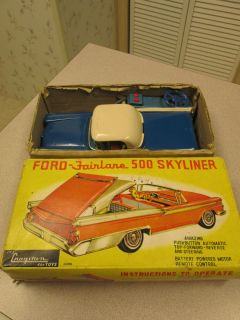 VINTAGE TIN TOY BATTERY POWER CRAGSTAN JAPAN FORD FAIRLANE 500
