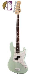 Fender Mark Hoppus (Blink 182) Jazz Bass, Surf Green, Deluxe Gig Bag