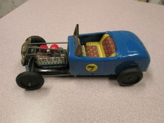 VINTAGE TIN TOY HOT ROD RACE CAR MADE IN JAPAN RAT ROD REALLY COOL