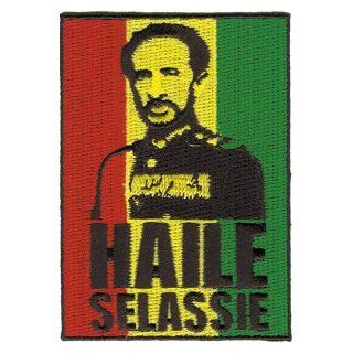 Haile Selassie   Rasta Reggae Small Logo Patch Clothing