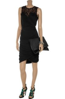 ALICE by Temperley Mini Diosa jersey and lace dress
