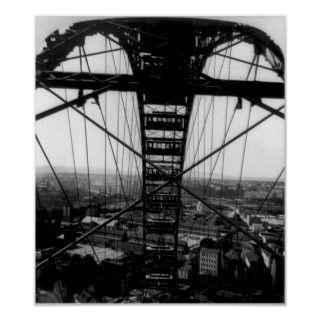 Exposición 1900 de París de la rueda grande de Par Poster de