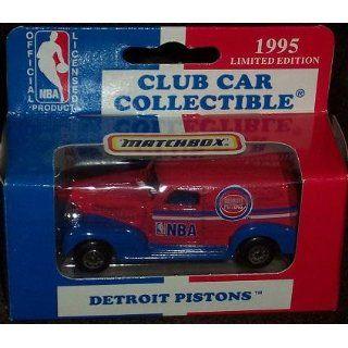 Detroit Pistons 1995 NBA Diecast Chevy Sedan Truck