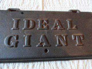 Antique Cast Iron Equipment Horse Drawn Mower Ideal Box Lid Heavy