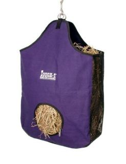Canvas Large Horse Hay Tote Bag Feeder Horse Tack Purple
