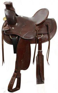 Timer Wade Style Ranch Saddle w Hard Seat New Horse Tack Saddle