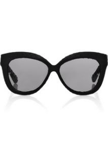 Linda Farrow Cat eye frame python coated sunglasses   60% Off